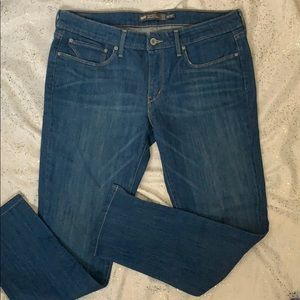 Levi's slight curve mid rise skinny crop jeans